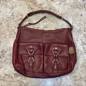 Cole Haan Avery Hobo Bag Leather Oxblood Ludlow St